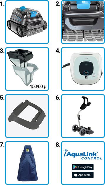 Materiale incluso Robot piscina Zodiac CNX 30 iQ