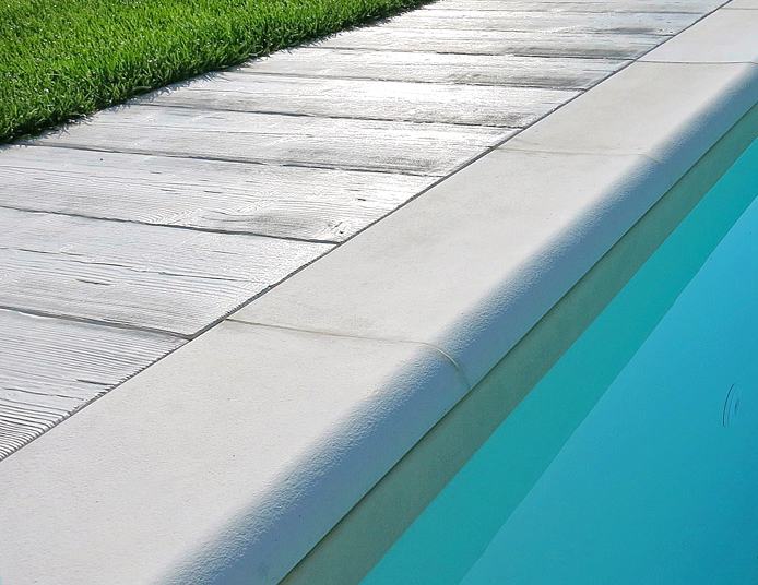 Bordo per piscina sagomato roma autentika colore bianco for Bordi per piscine