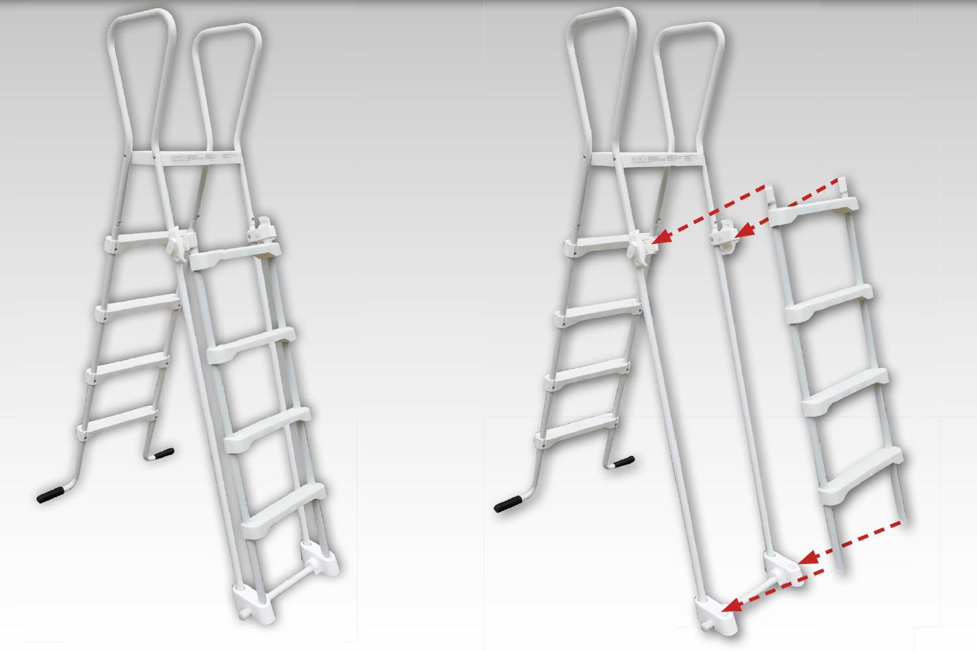 Scaletta di sicurezza SAFE per piscine fino a 1,32 m di altezza