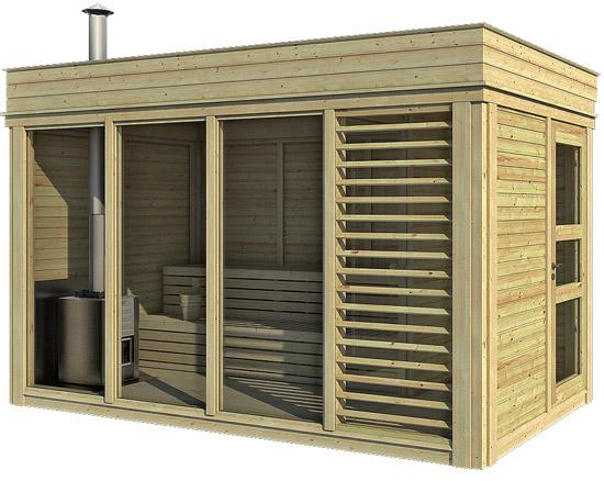 Sauna tradizionale da esterno ARES