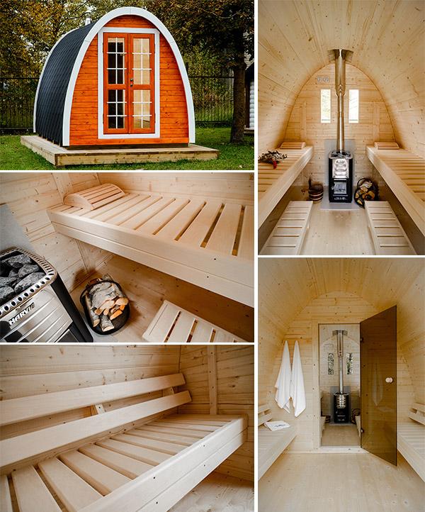 Sauna finlandese tradizionale da esterno MODI