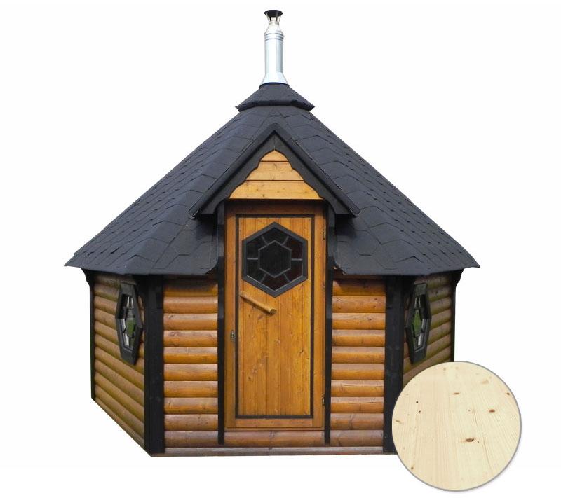 Sauna finlandese tradizionale da esterno odino con spogliatoio 5 7 posti - Sauna da esterno ...