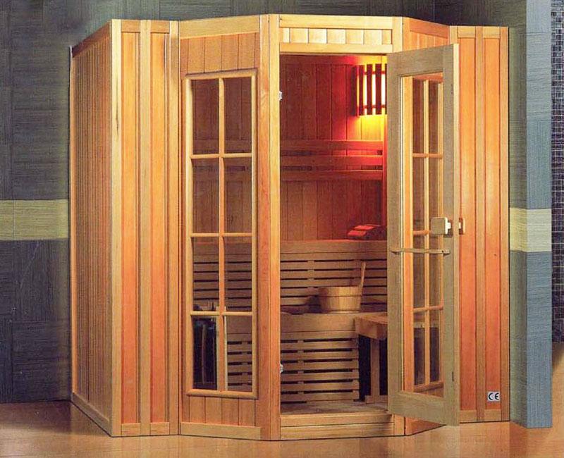 Sauna tradizionale finlandese per 6 persone panche due for Piani di sauna seminterrato