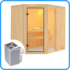 Sauna finlandese tradizionale Fiona1 stufa 9 kw
