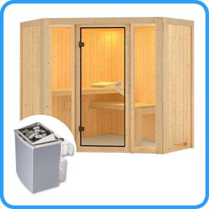 Sauna finlandese tradizionale FLORA1 stufa 9 kw