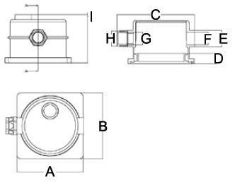 dimensione scatola di derivazione proiettore MT-3