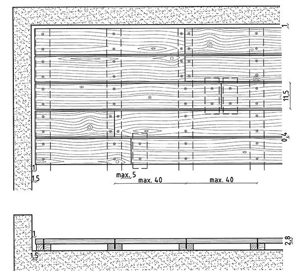 Tipologia posa listoni in legno di pino
