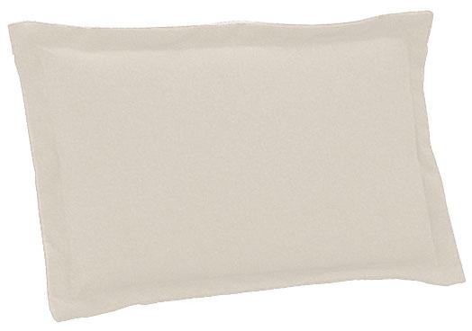 Cuscino per schienale 38x24 cm con volant ECRU