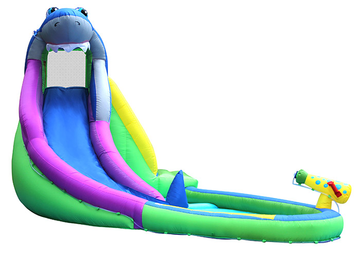 Scivolo gonfiabile per bambini SQUALO con giochi ad acqua
