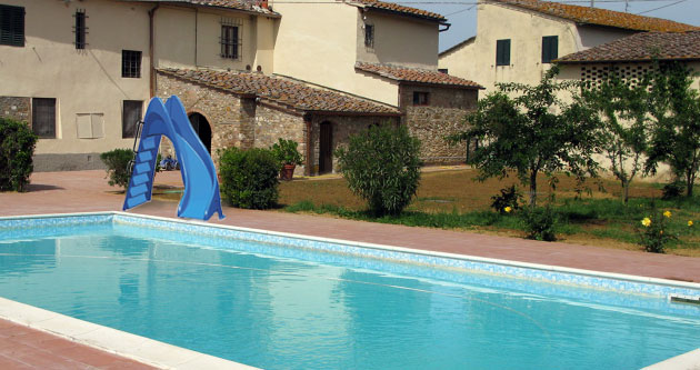 Scivolo per piscina BLU curva a destra - h1,50 m