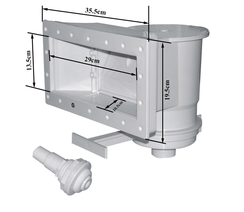 Skimmer esterno a bocca svasata per piscine rigide for Skimmer per piscine