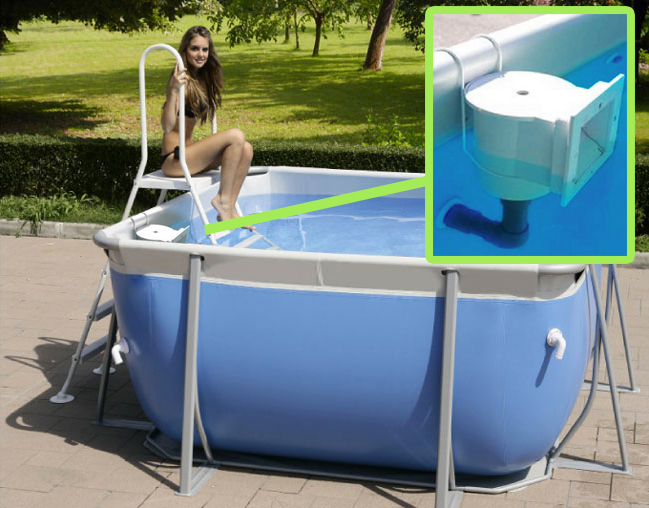 Kit skimmer con gancio metallico per piscina fuori terra mrpiscina it - Piscina skimmer ...