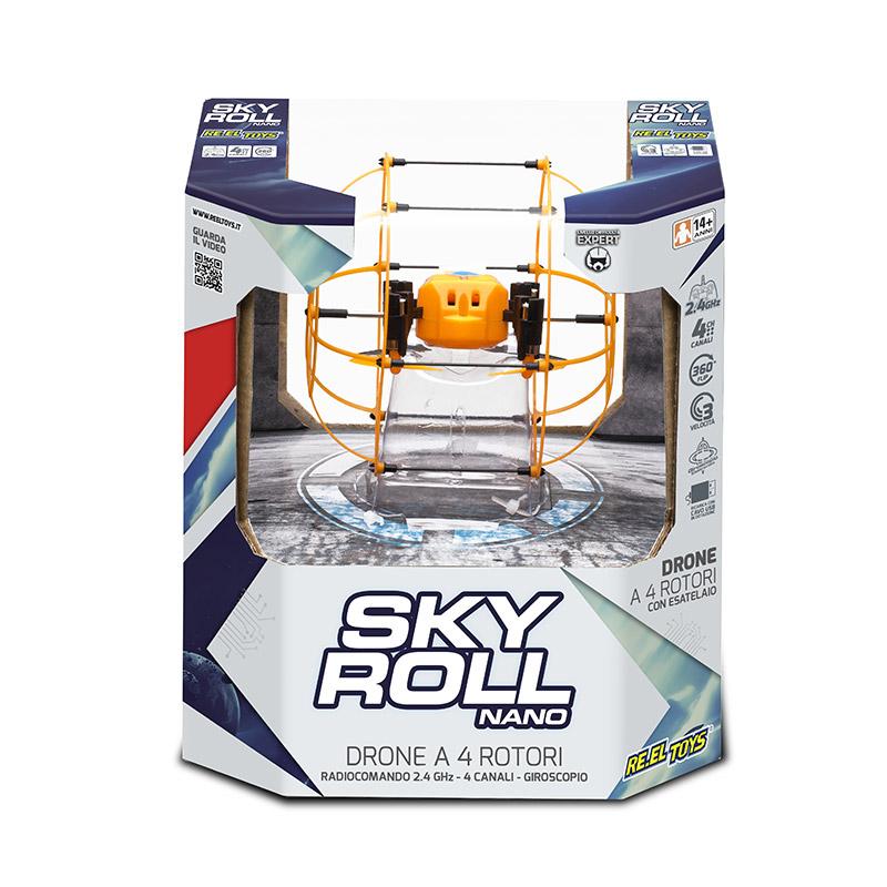 Drone radiocomandato SKY ROLL NANO RE.EL TOYS 4 rotori a 2,4GHz