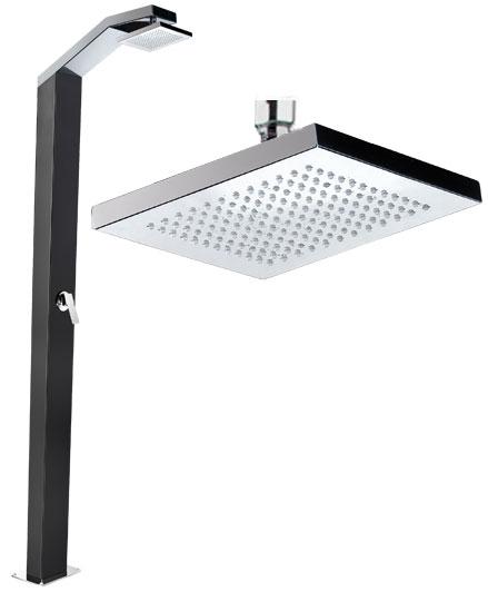 Soffione doccia e braccio a muro - inox  BSVillage.com