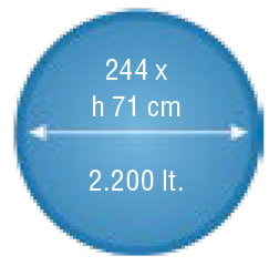 piscina soft 244 dimensioni