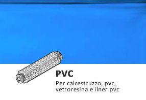 Spazzole in pvc