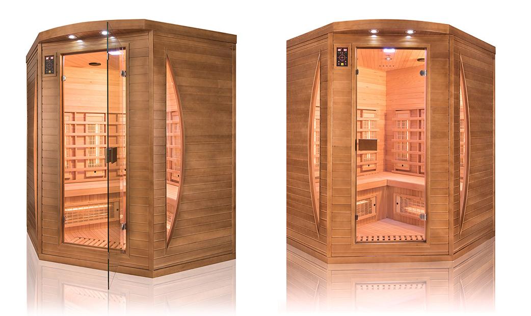 Sauna a raggi infrarossi Spectra da 3 posti