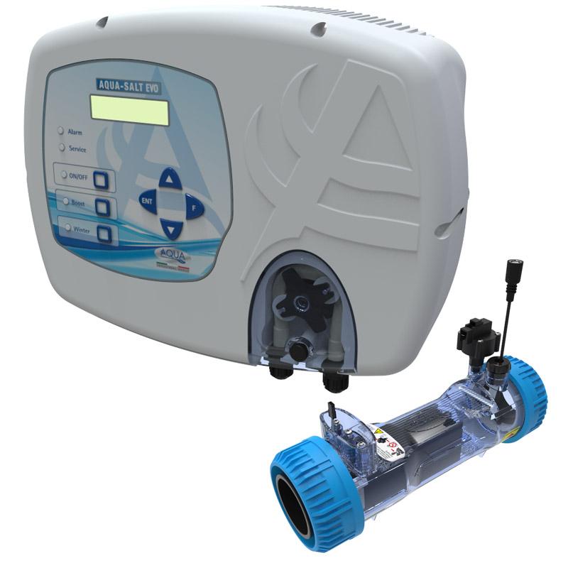 Sterilizzatore AQUA SALT EVO per elettrolisi del sale per piscine fino a 200 m³