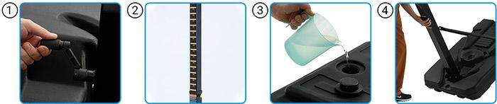 Utilizzo Tabellone da basket regolamentare SAN DIEGO ad altezza regolabile da 225 a 305 cm