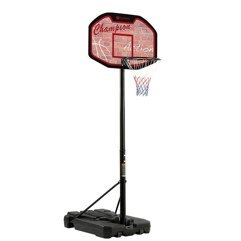 Tabellone da basket SAN JOSE' ad altezza regolabile da 225 a 305 cm