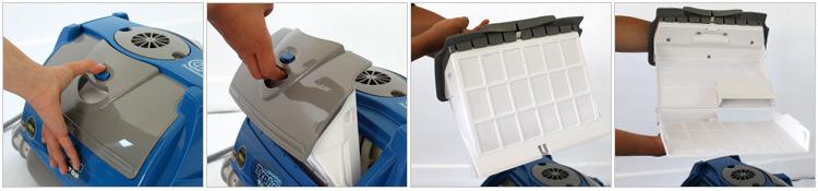Pulizia cartucce filtro Top Access