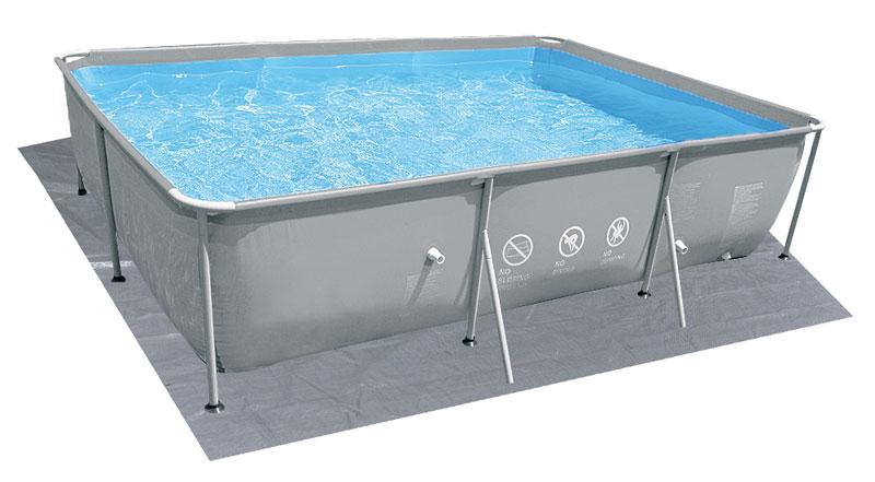 Piscina fuori terra mistal frame jilong 549 x 305 h122 cm - Tappetino per piscina ...