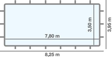 Dimensioni PISCINA FUORI TERRA Rettangolare Niagara
