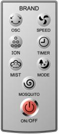 telecomando Ventilatore nebulizzatore Fresh 135 da Interno