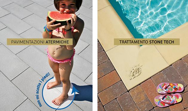 Bordo piscina atermico