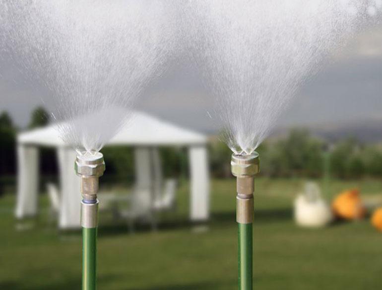 Nebulizzatore trio da esterno per grandi superifici fresh
