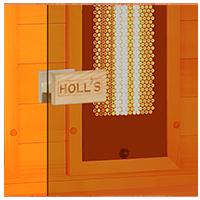 Sauna Multiwave con vetro di sicurezza