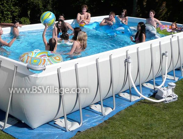 Piscina intex ultra frame 5 49 x 2 74 h 1 32 for Coperture invernali per piscine fuori terra intex