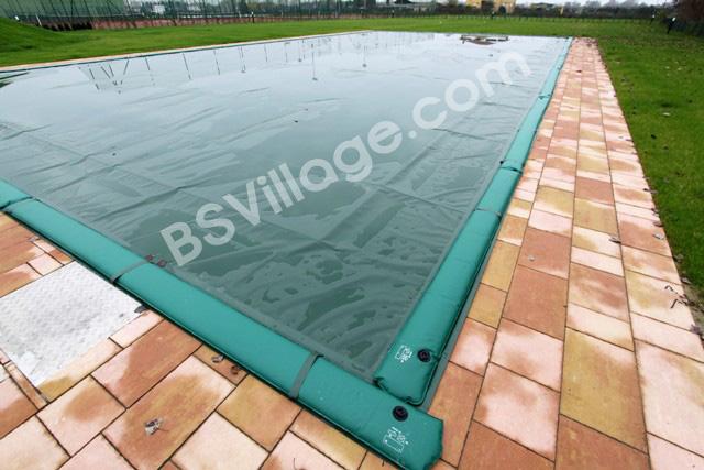 Copertura invernale per piscina 220 gr mq ivertex ss con bretelle porta salamotti prezzo al mq - Salsicciotti per piscina ...