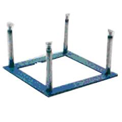 Base di fissaggio a pavimento per blocchi di partenza