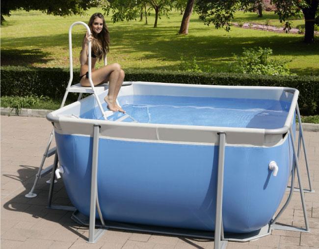 Vendita piscina fuori terra technypools quadrata demo 265 - Piscina fuori terra quadrata ...