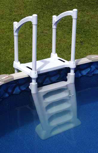 Scaletta H2O doppia per piscine fuori terra fino a 1,35 m