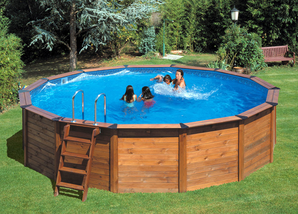 Piscina fuori terra gre nature pool serie hawaii 500 500x500 h132 - Piscine interrate costi ...