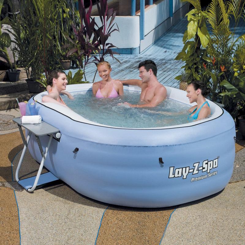 Vendita mini piscina spa idromassaggio gonfiabile ovale bestway lay z - Piscina spa gonfiabile ...