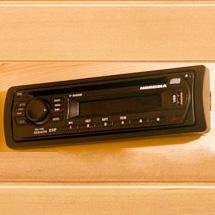 Radio CD MP3 stereo player per rilassarsi anche con l'aiuto della musica.
