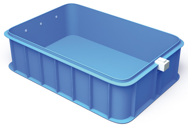 Kit piscina interrata 4 in 1 giove a120 2 70 x 6 00 h 1 20 m - Piscina plastica rigida ...