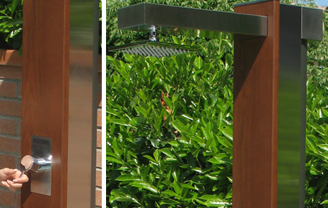 Doccia solare in legno ipè