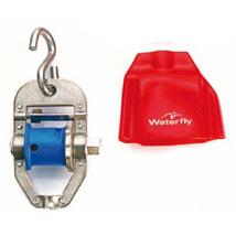 Tenditore a rocchetto in acciaio con protezione per corsie galleggianti