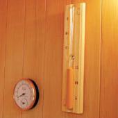 Termometro e igrometro con clessidra