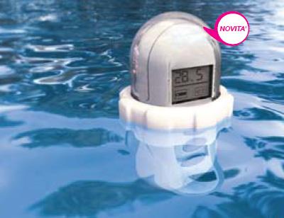 Termometro digitale galleggiante con trasmettitore for Termometro piscina