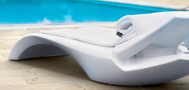 Lettino prendisole piscina ZOE by Myyour, goffrato e lucido  BSVillage.com