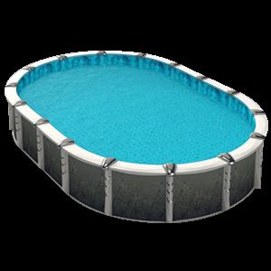 Coperture per piscina con occhielli e bretelle porta - Teli per piscine fuori terra ...