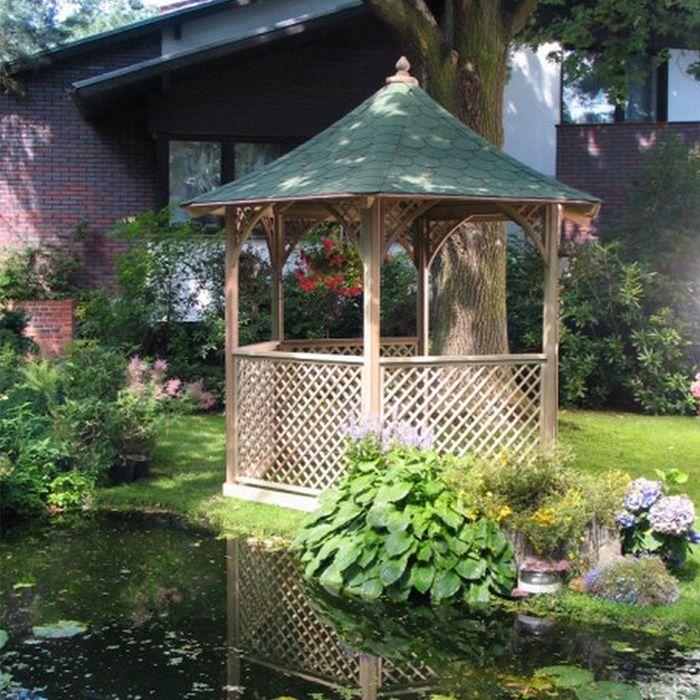 Gazebo da giardino in legno vivaldi for Tinozze da giardino