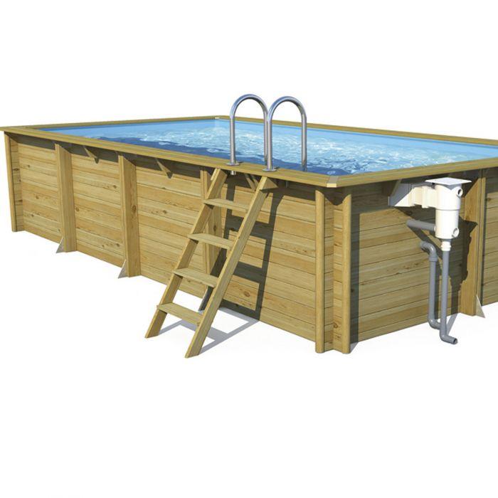 Piscina in legno fuori terra odyssea 5x5 quadrata 5 50 x for Piscine bois rectangulaire 5x3