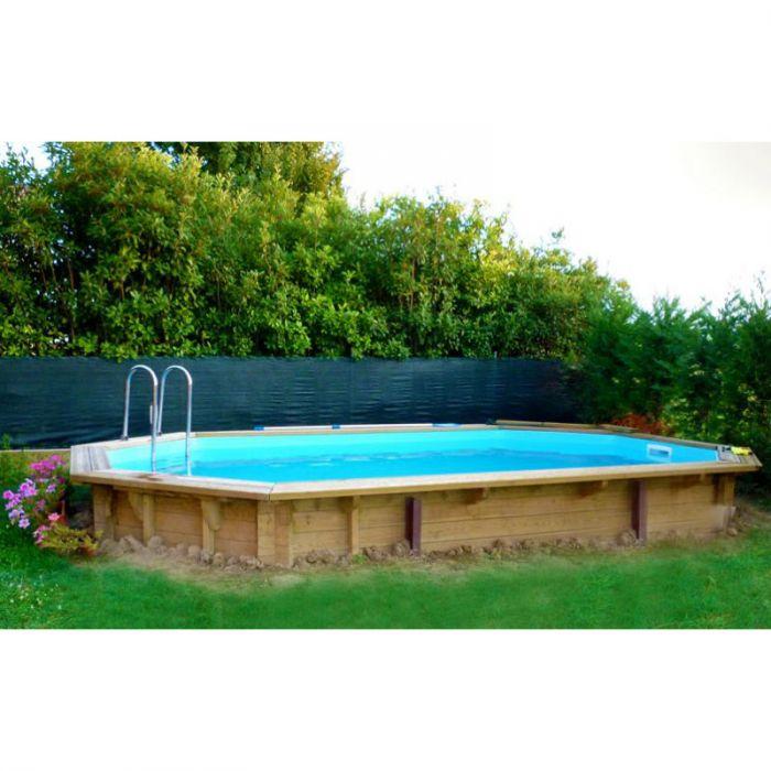 Piscina fuori terra in legno ecowood easy plus 730 ottagonale 7 27 x 3 96 m x h 1 33 m - Piscina fuori terra legno ...
