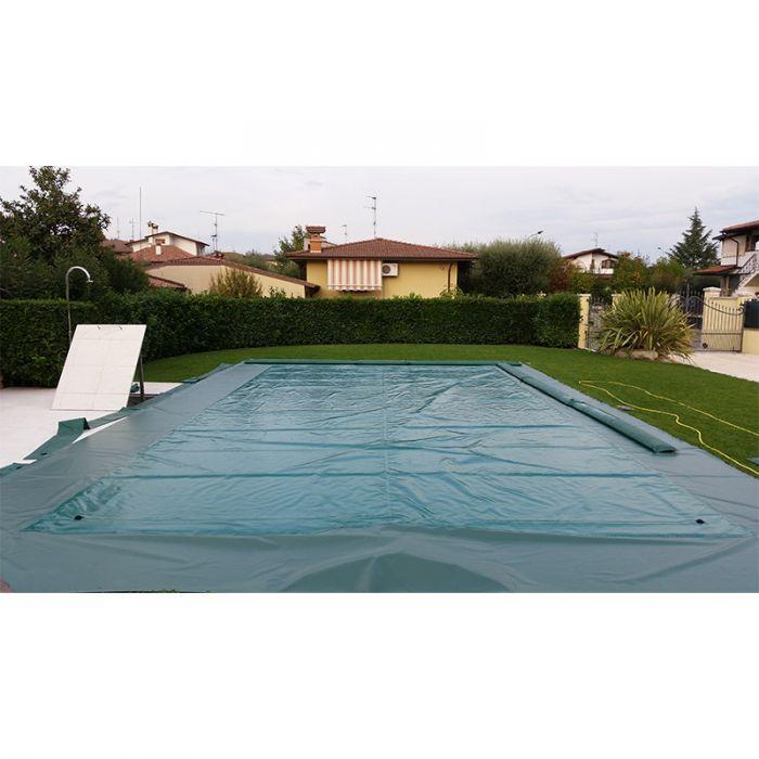 Copertura invernale gonfiabile per piscina aircover con bretelle - Salsicciotti per piscina ...